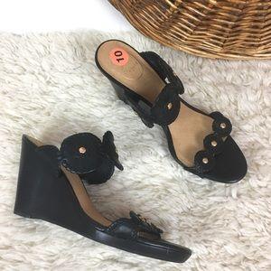 Jack rogers leather wedge heeled sandal